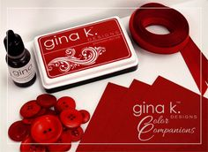 "Gina K Designs ""Color Companions"" Cherry Red Collection; other collections also come in Fresh Asparagus, Ocean Mist, Red Hot, Dark Sage, Honey Mustard, Innocent Pink and Powder Blue"