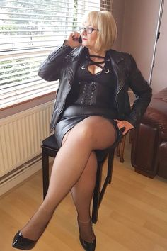 woman in nylons