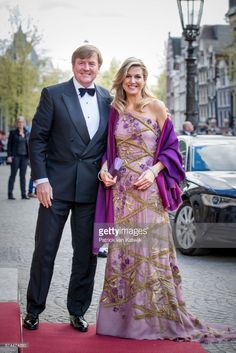 King Willem-Alexander and Queen Maxima of The Netherlands host a dinner for 150 Dutch people to celebrate his 50th birthday in the Royal Palace on April 28, 2017 in Amsterdam, Netherlands. After the dinner the King and the Queen will open the Royal Palace for 50 hours with an exhibition that gives an overview of the Netherlands in the last 50 years.