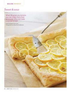 "Meyer Lemon Tart - bet this would be awesome if you could somehow slightly ""candy"" the lemon rinds"