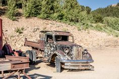 Old Ford Pickup Truck at Mollie Kathleen Gold Mining Facility in Cripple Creek Colorado