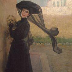 Vittorio Matteo Corcos (1859-1933) - Signora in nero