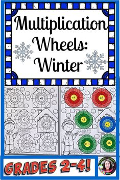 Multiplication Wheels: Winter - Real Time - Diet, Exercise, Fitness, Finance You for Healthy articles ideas Division Activities, Math Activities, Multiplication Wheel, Teaching Multiplication, 4th Grade Classroom, Teacher Resources, Classroom Resources, Elementary Math, Word Problems