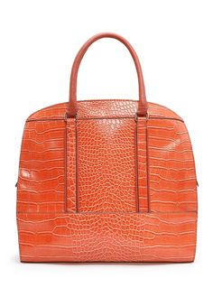TOUCH - Croc embossed tote bag
