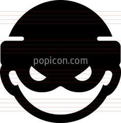 Computer Hacker Icon - Illustration