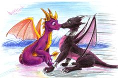 The Legend of Spyro • Spyro and Cynder <3