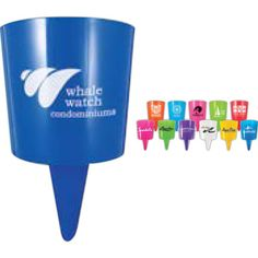 Beach Nik - The possibilities are nearly endless with the Beach Nik (TM)! This helpful holder is cone shaped and equipped with a pointed end to stick in the ground. All you need to do is push the end into sand or soft surface and you have a sturdy holder for bottles, cups, or anything that fits. Make sure people associate your brand with these invaluable beach companions by using the personalization options to have your logo printed on the Beach Nik (TM)