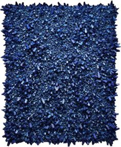 mulberryroad:  Aaah, cerulean (Or more properly, lapis, from which this appears to have been created, as well as with mulberry paper, by Chun Kwang Young.) From the marvellous But Does It Float blog. So, then, Solidity's a crust - but does it float