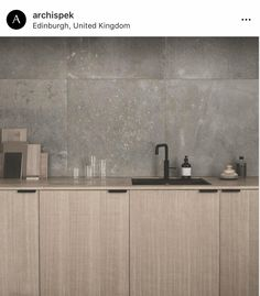Norm Architects' updated version of their SURFACE kitchen design. It's in sawn c… Norm Architects' updated version of their SURFACE kitchen design. It's in sawn cut natural oak. They have recently installed it in their office in Copenhagen Source