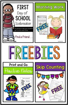 Do you love FREEBIES? This post is full of free resources, ideas, and more for back to school. Check out these awesome back to school freebies! Superhero Classroom, New Classroom, Classroom Ideas, Classroom Organisation, Second Grade Freebies, Preschool Transitions, School Icebreakers, Teaching Interview, First Grade Crafts
