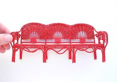 Cherry patio bench 17.00 for mini gardens two green thumbs 2014