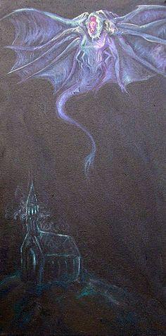 El Cazador en la Oscuridad, avatar de Nyarlatothep atrapado hasta ahora en la Iglesia de la Sabiduría de las Estrellas de Providence, en libertad. Por Wilbur Watheley (no es su nombre real) en deviantart