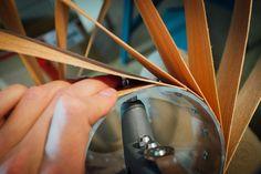 DIY Lampe aus Holzfurnier