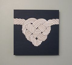 Any Color Original Heart Knot Nautical Canvas by SnowFlowerArts, $50.00