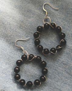 Czarno-srebrne kolczyki / Black and siver earrings
