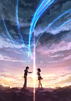 Kimi no Na wa (Your Name). Brilliant movie, a bit confusing but clever, never seen anything like it (Beauty Scenery Japan) Manga Anime, Anime Yugioh, Anime Body, Anime Pokemon, Anime Kawaii, Manga Art, Fille Blonde Anime, Anime Quotes Tumblr, Kimi No Na Wa Wallpaper