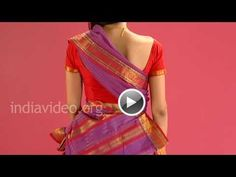 Featuring in this video is the traditional chettinad saree wearing in Tamil pinkosu style.