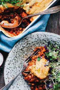 Vegan sweet potato and aubergine moussaka recipe from Green Kitchen Travels by David Frenkiel Cooked Vegetarian Recipes, Cooking Recipes, Healthy Recipes, Moussaka Recipe, Vegan Moussaka, Sweet Potato Slices, Green Kitchen, Vegan Dinners, Salads