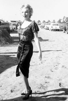 Marilyn Monroe on the set of Bus Stop, 1956.