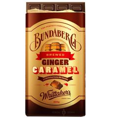Whittakers Bundaberg Ginger Caramel Chocolate