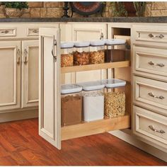Buy the Rev-A-Shelf Natural Direct. Shop for the Rev-A-Shelf Natural 448 Series Wide Pull Out Base Organizer with Soft Close Slides for Full Height Base Cabinet and save. Kitchen Pantry Cabinets, Custom Kitchen Cabinets, Base Cabinets, Kitchen Island, Small Pantry Cabinet, Pantry Shelving, Teal Cabinets, Kitchen Cabinet Door Styles, Narrow Cabinet
