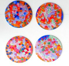 Autumn Abstract Coasters Set by InspriationWorkshop on Etsy, $10.00