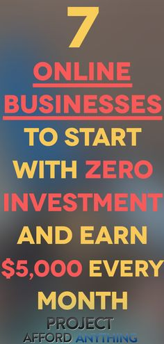 Want to start an online business with zero startup costs? We made a list of 7 KILLER online businesses to start with zero investment & earn $5,000 every month. Read this article to find out more.