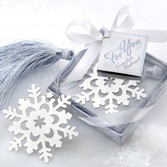 Snowflake Bookmark in Gift Box by Beau-coup