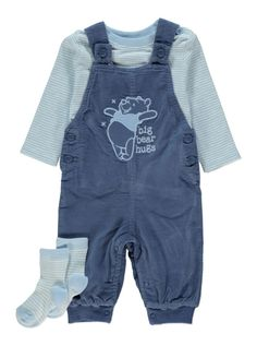 12cc04d849f7 3 Piece Winnie the Pooh Dungarees, Top and Socks Set Baby Online, Little  Ones