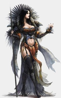 Sorceress of feather