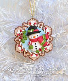 Handcrafted Polymer Clay Christmas Snowman di MyJoyfulMoments