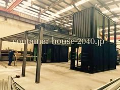 Garage House IN KANAGAWA 仮組みチェック中  #2040JP #GarageHouse #INKANAGAWA #仮組みチェック中 #コンテナの設計と製造をしています #コンテナハウス #ContainerHouse #建築確認対応