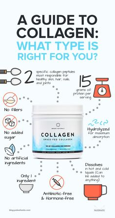 Collagen is all the rage nowadays. From liquid shots to powders its known for giving you the glow reducing skin aging boosting joint health and more. Health And Fitness Articles, Health And Wellness, Health Fitness, Easy Family Meals, Family Recipes, Collagen Powder, What Type, Recipe For 4, Young Living Essential Oils
