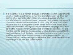 Prenatal Vitamin Supplements