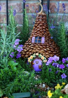 Pinecone Fairy House