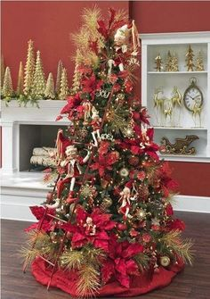Poinsettia Christmas Tree Diy Christmas Tree Xmas Tree Merry Christmas Beautiful Christmas Trees