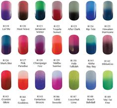 Gel ii Reaction Remix Ombre nails- Color changes with temperature change! How friggen cool! Mood Gel Polish, Color Change Nail Polish, Gel Polish Colors, Love Nails, How To Do Nails, Pretty Nails, My Nails, Gorgeous Nails, Glitter Acrylics