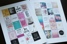 Free Erin Condren Motivational Quotes Printable Stickers