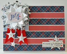 paper piecing 4th of july | paper pieced flag