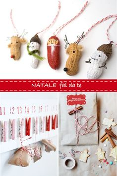 Diy Christmas... The little peanut ornaments.... seriously!