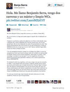 """""""Tengo dos carreras, un máster y limpio WCs"""": el texto viral sobre la emigración de jóvenes españoles / ElHuffPost   #nonosvamosnosechan"""
