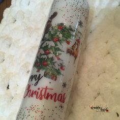 Say Merry Christmas every day with this cute 30 oz tumbler!
