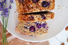 Grain Free Blueberry, Coconut & Almond Loaf Cake - Sophie's Blend www.sophiesblend.co.uk