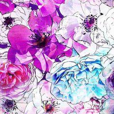 Violet Rose → patternbank.com/beccybland #swimwear #sportswear #yoga #yogapants…