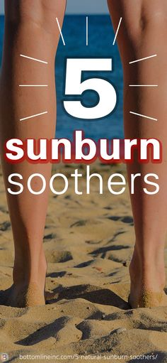A #naturopath's favorite #sunburn home remedies! Cost-effective and safe for your skin! | #bottomlineinc #summer #sunburnremedies
