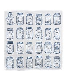 $6.99 Give me all the cute mason jar things!!!! Another great find on #zulily! Mason Jars Dish Towel by Primitives by Kathy #zulilyfinds