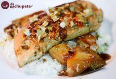 Solomillo de pavo con salsa de soja y piña ☆☆