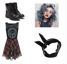 """""""gangster girl look"""" by vickyjuste ❤ liked on Polyvore featuring Boohoo"""