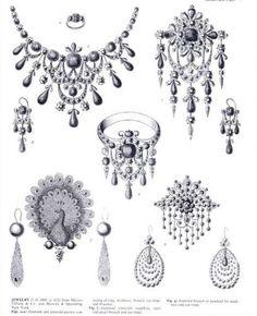 Jewelry Making Do You Want to Be a Fine Jewelry Designer? Antique Jewellery Designs, Edwardian Jewelry, Antique Jewelry, Vintage Jewelry, Jewelry Tattoo, Jewelry Art, Fine Jewelry, Jewelry Bracelets, Frozen Jewelry