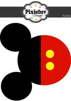Image result for Mickey Mouse Printable Template Invitation Cutouts